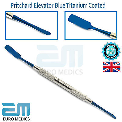 Prichard Elevator Blue Titanium Coated Dental Surgical Periosteal Dentists Tools