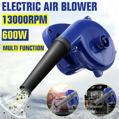 600W Electric Handheld Air Blower Computer Vacuum Car Garden Dust Leaf Cleaner