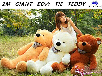 2M Large Giant Teddy Bear Bow Tie Cuddly Soft Plush Animal Toy Doll Stuffed