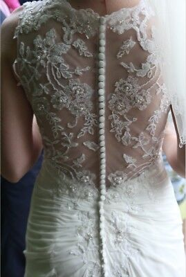 Phil Collins beautiful lace ivory wedding dress size 10 - Good condition