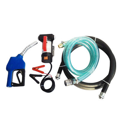 Portable 12V Diesel Fluid Extractor Electric Transfer Pump Kerosene Auto Speed