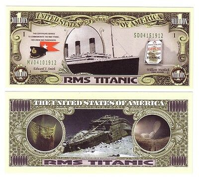 Dollars Us One Million The United States Rms Titanic