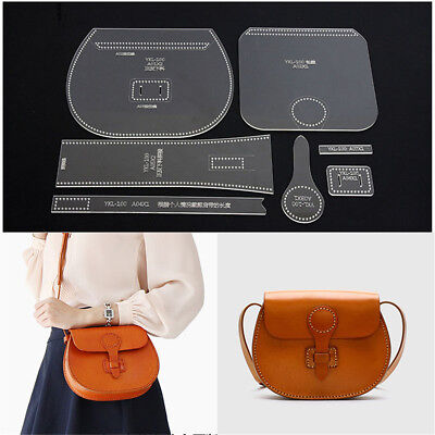 Leather Craft Clear Acrylic Shoulder Bag Handbag Pattern Stencil Template Tools