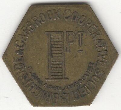 Brightside & Carbrook Co-Operative Society 1 Pt Uniface Token**Collectors**BR1