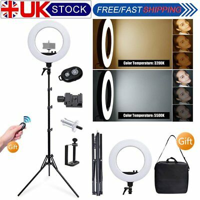 Dimmable 45cm 50W 3200-5500K LED Ring Light With Stand Bag Kit for Video Photo