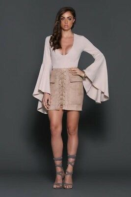 Runaway The Label Jackie Skirt Taupe Size 8