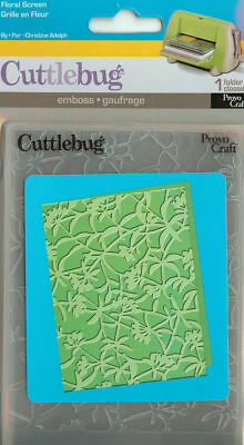 New Cuttlebug Floral Screen A2 Embossing Folder #371610