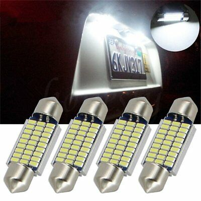 2XExtremely Bright Festoon 36mm 27SMD 3014 Chipsets Canbus Error Free LED Bulbs