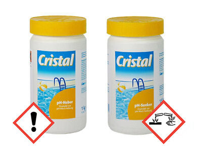 Cristal  Set - Cristal PH-Heber 1 kg + pH-Senker 1,5 kg, ph Wert, pH Regulierung