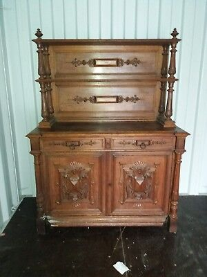 Victorian Chiffonier, Antique Flame Mahogany Sideboard, Furniture