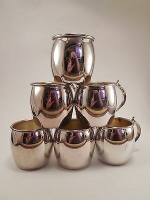 Vintage Lot of Six Towle Silverplated Silver Plate Moscow Mule Style Small Mugs
