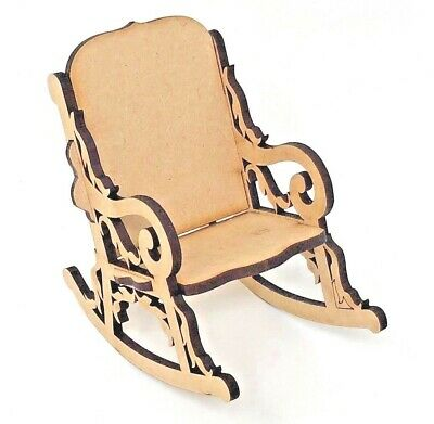 3D Stand-alone Rocking Chair Wooden Mdf Laser crafted shape, Fathers/Mothers day