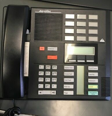 Nortel M7310 Phone, Meridian, NT8B20 Black --Used in Working Condition