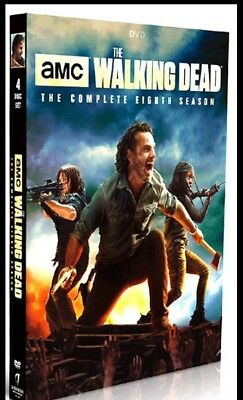 The Walking Dead Season 8  DVD 4 disc USA SELLER BRAND NEW  AMC Ships Free