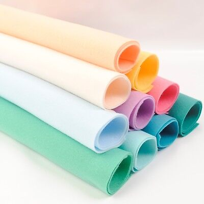 Colour Collections - Soft Polyester Felt - 10 Sheets - Great Quality Craft Felt