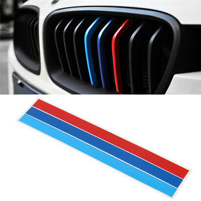 1 Pcs M Tech Color Front Grill Grille Badge Sticker Emblems Decal For All Series