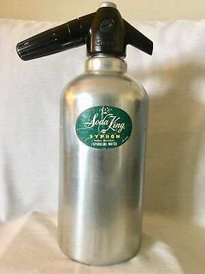 Vintage Soda King Syphon Bottle/Insulator