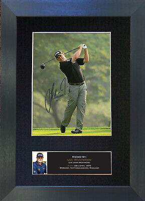 LEE WESTWOOD Signed Mounted Reproduction Autograph Photo Prints A4 457
