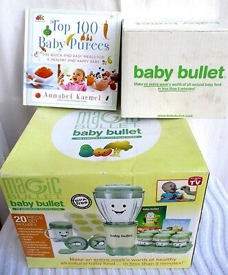 MAGIC BABY BULLET..BLENDER..BABY FOOD SYSTEM..w EXTRAS