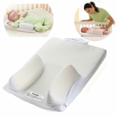 Baby Anti-Roll Pillow Infant Sleep Prevent Flat Head Positioner Pillow Cushion N