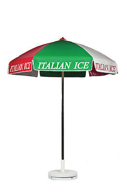 Frankford Italian Ice Cart Umbrella - Red/White/Green