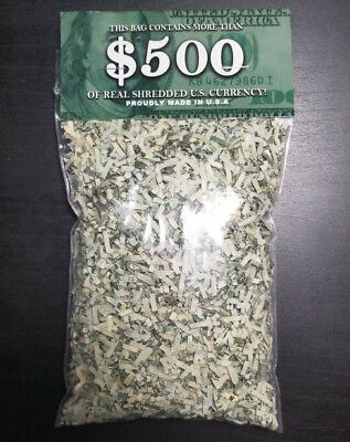100% Real Shredded Money - LARGEST 1oz BAG With $165+ Value - Gag Novelty Gift