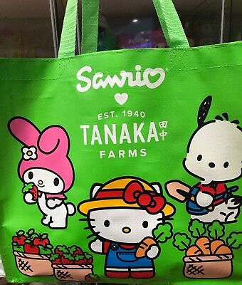 Hello Kitty Strawberry Season Tanaka Farms Reusable Tote Bag. SanrioxTanaka Farm