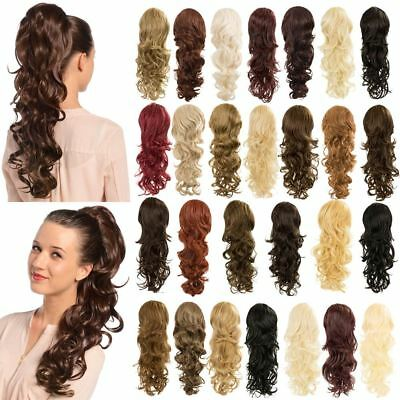 New Women's High Quality Synthetic Hair Extensions Curly Long Ponytail