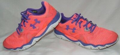 WOMENS NEON CORAL   Purple UNDER ARMOUR Athletic Sneakers Shoes Sz 9 ... 3a7e605917a