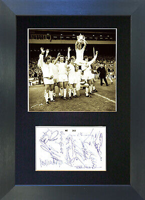 LEEDS UTD 1972 Signed Mounted Autograph Photo Prints A4 441