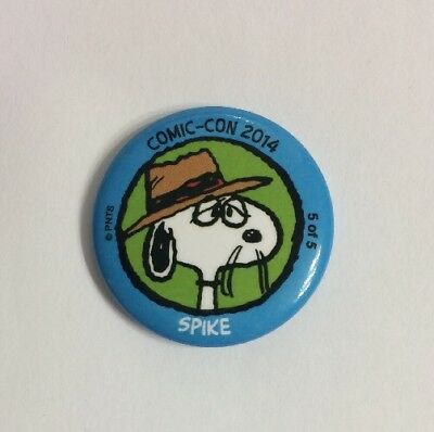 """Peanuts 2014 SDCC Spike Daisy Hill Promotional Button Snoopy Sibling 1.25"""" New"""