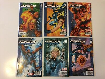 Run of 6 Ultimate Fantastic Four #1 2 3 4 5 6 Marvel Comics (2003) VF/NM
