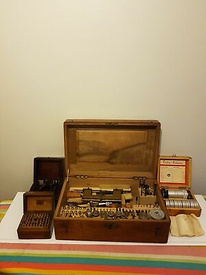early 20th century watchmakers toolbox