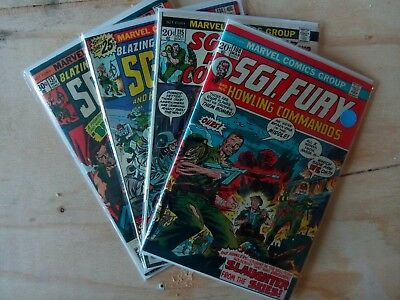 Sgt. Fury and his Howling Commandos Lot of 4