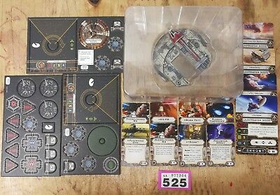 Star Wars X-Wing Miniatures Game Punishing One + Pilot cards, tokens