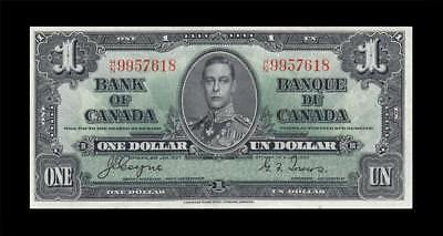 1937 BANK OF CANADA KGVI $1 **Coyne & Towers** (( aUNC ))