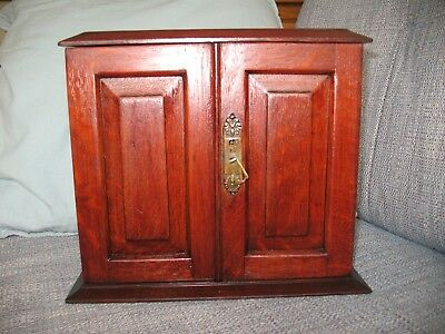 Oak Stationary Cabinet English Antique Victorian Correspondence Writing Box