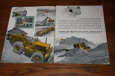 Caterpillar Crawler Tractor Full Line of Products Sales Brochure Hobson Missouri