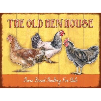 funny rustic vintage Sign The Old Hen House Size A5
