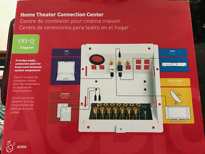 ON-Q/LEGRAND 5.1 Home Theater Connection Kit F9008-LA-V1 Gold Plated ...