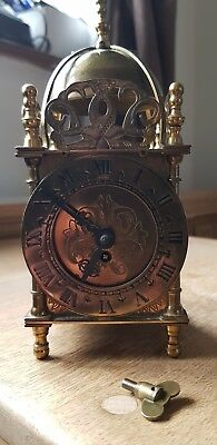 smiths antique  brass clock manual..