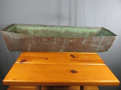 """Copper Planter Window Box Pot Rustic Large 32 1/2"""" Great Patina Great Look"""