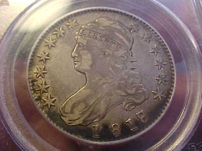 1818 / 7  Capped Bust Half Dollar PCGS VF 35  SMALL 8 PREMIUM QUALIT Y RARE COIN