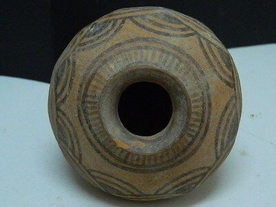 "Indus Valley Teracotta Painted Pot C.2500 Bc """"t15256"""""