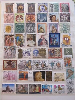 Italy stamp collection on 2 pages