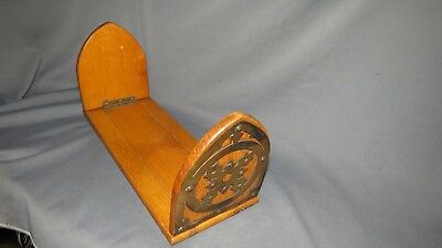 A 19th CENTURY VICTORIAN OAK ADJUSTABLE BOOK STAND