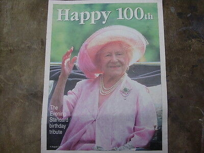 royal family - THE QUEEN MOTHER AT 100 - COLLECTABLE BIRTHDAY MAGAZINE