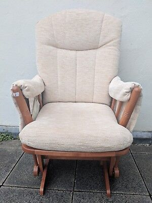 RRP £316.49 BNWT Dutailier Nursing Glider Chair With Beige Marl Upholstery