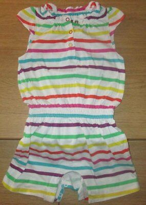 Mothercare Pretty Stripe Playsuit Shorts Romper - 2-3 Years