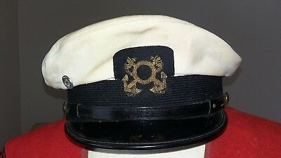 Rare Real 30s^50s? Abercrombie & Fitch Madison Ave Captains Yacht Hat Size 7 1/4